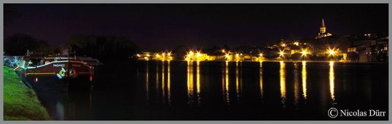 Le Canal du Midi : randonnée photographique nocturne à Castelnaudary en mars2015