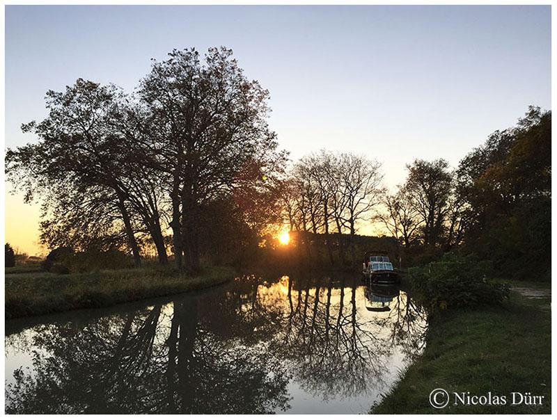 Le Canal du Midi : étape photographique nocturne au lieu-dit «La Croisade» en automne2016