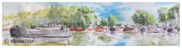 Le Canal du Midi : randonnée graphique sur l'Embouchure en 2013, premièrepartie