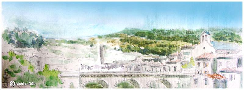 Randonnées graphiques du Canal de Jonction de la Robine à Minerve en2013