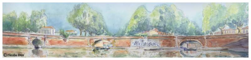 Le Canal du Midi : randonnée graphique sur l'Embouchure en 2013 , deuxièmepartie