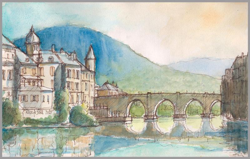 Randonnées graphiques en Aveyron en 2012 et2015