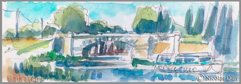 Randonnées graphiques printanières et estivales sur le Canal du Midi en2015