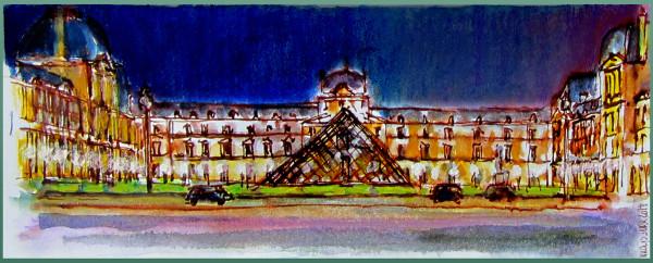 Randonnée graphique nocturne au Louvre, janvier2014