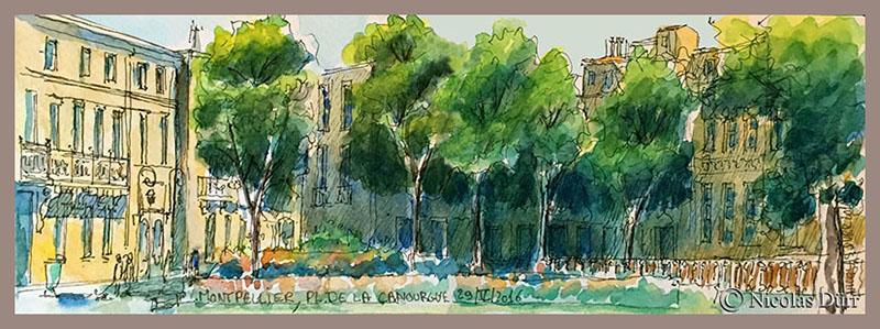 Sortie «randocroquis» sur Montpellier le 29 mai2016