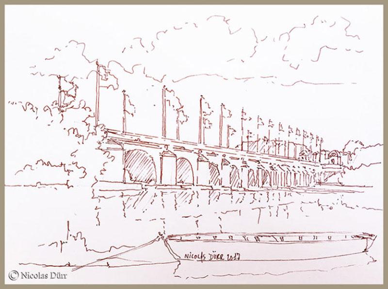 Etape graphique sur les bords de Loire à Tours, juillet2017