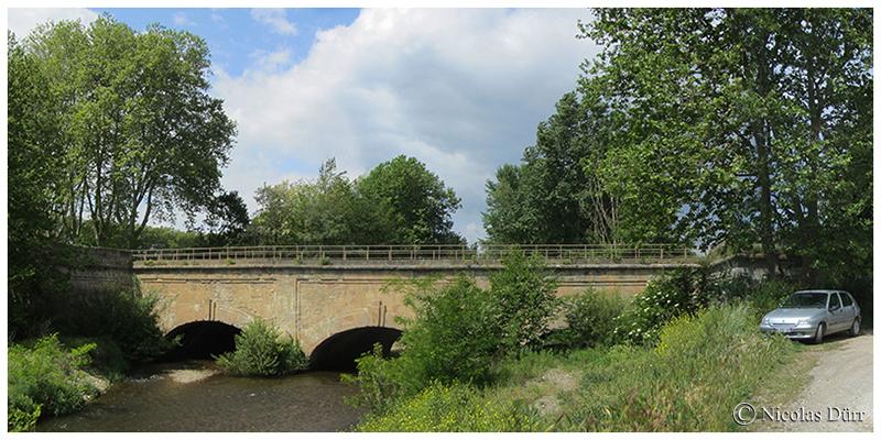 Le Canal du Midi en automne : sur l'aqueduc de l'Orbiel, novembre2017