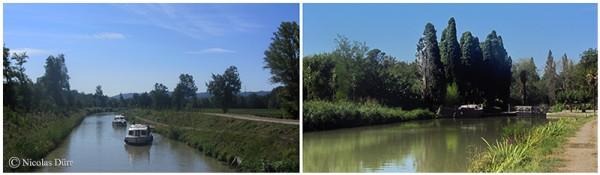 Le Canal du Midi (1/10/30), de Carcassonne à la jonction (2012) (1/7) : de la cité fortifiée à l'écluse deVilledubert