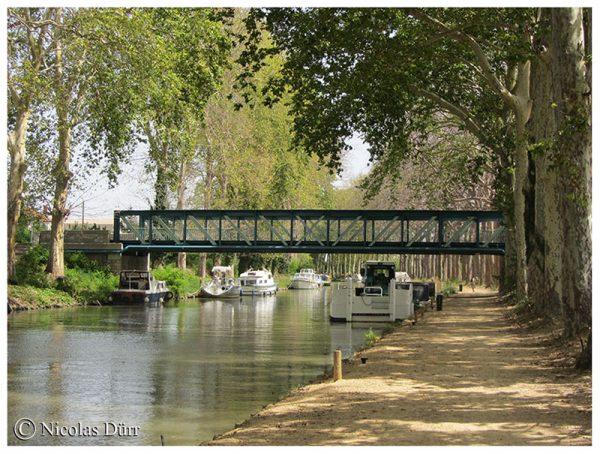 Le Canal du Midi (24/33), de la jonction à Béziers (2012) (3/5) : Capestang et la Barque dePoste