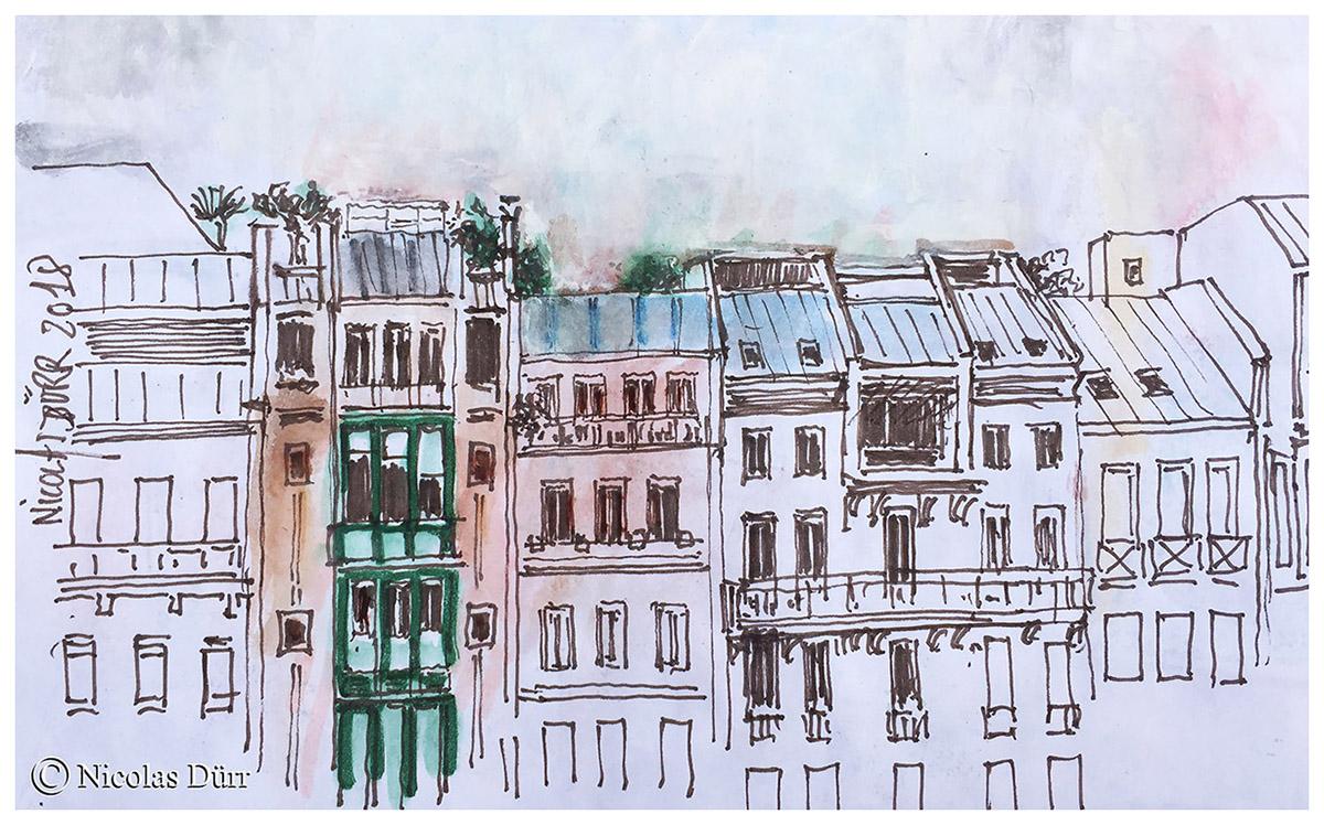 Le centre Pompidou à Paris en graphisme, début mars2018