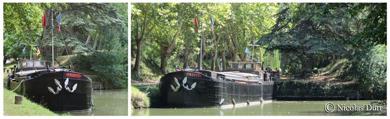 Le Canal du Midi (1/5/30), de Toulouse à Carcassonne (2012) (5/9) : sur le Bief departage