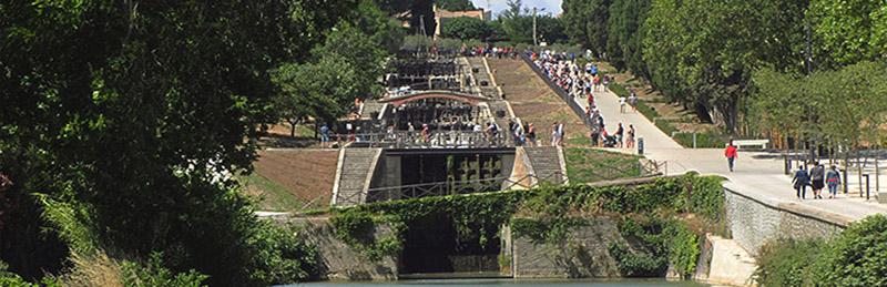 Le Canal du Midi (27/33), sur Béziers (2012-2017) (1/3) Les écluses deFonsérannes