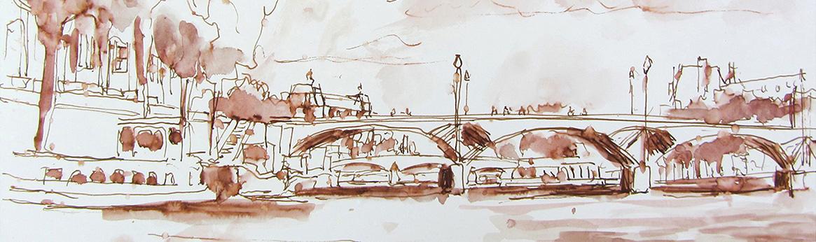 Les quais de la Seine entre deux ponts, juin2018