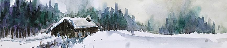 Une démo, une aquarelle (ambiance neigeuse dans le Haut-Doubs), et bien plusencore